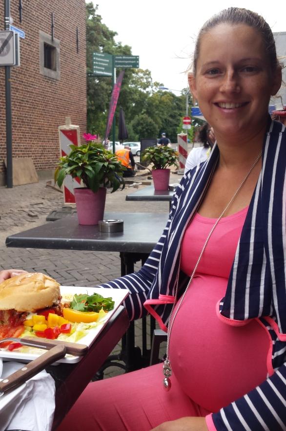 lunch dag voor bevalling