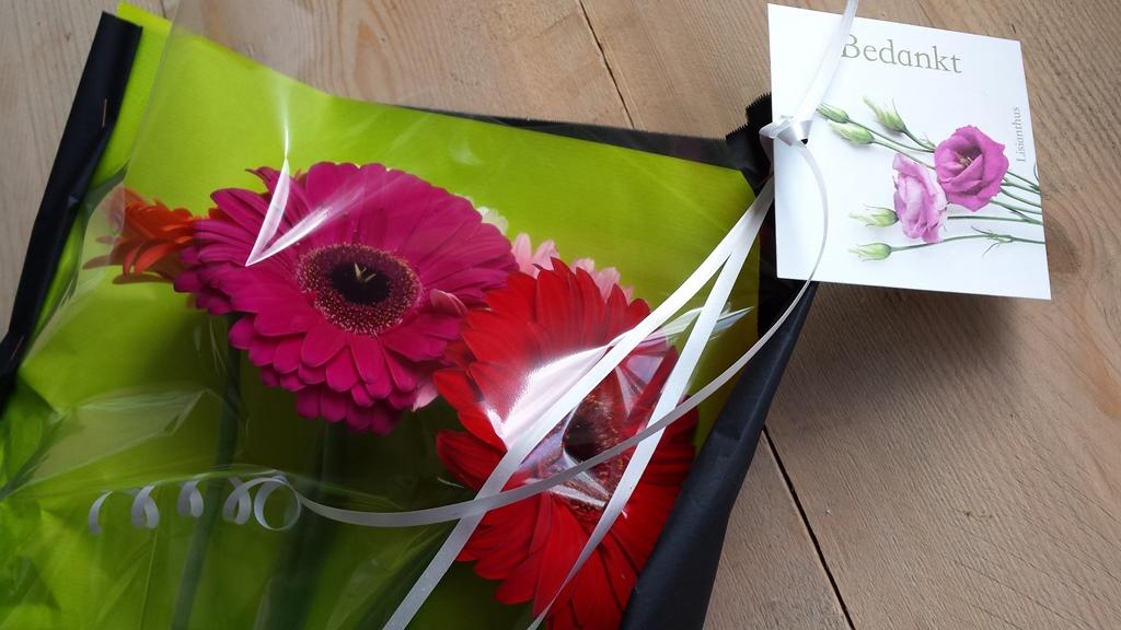bloemen en kaartje