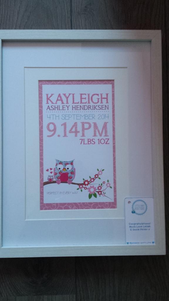 kayleighs geboortelijstje 1