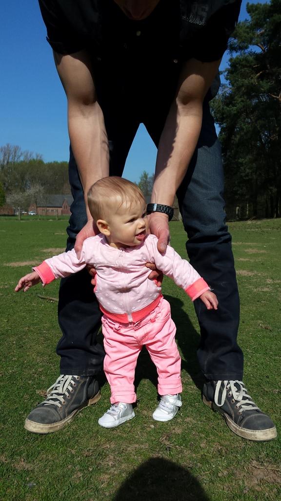 stappen met papa