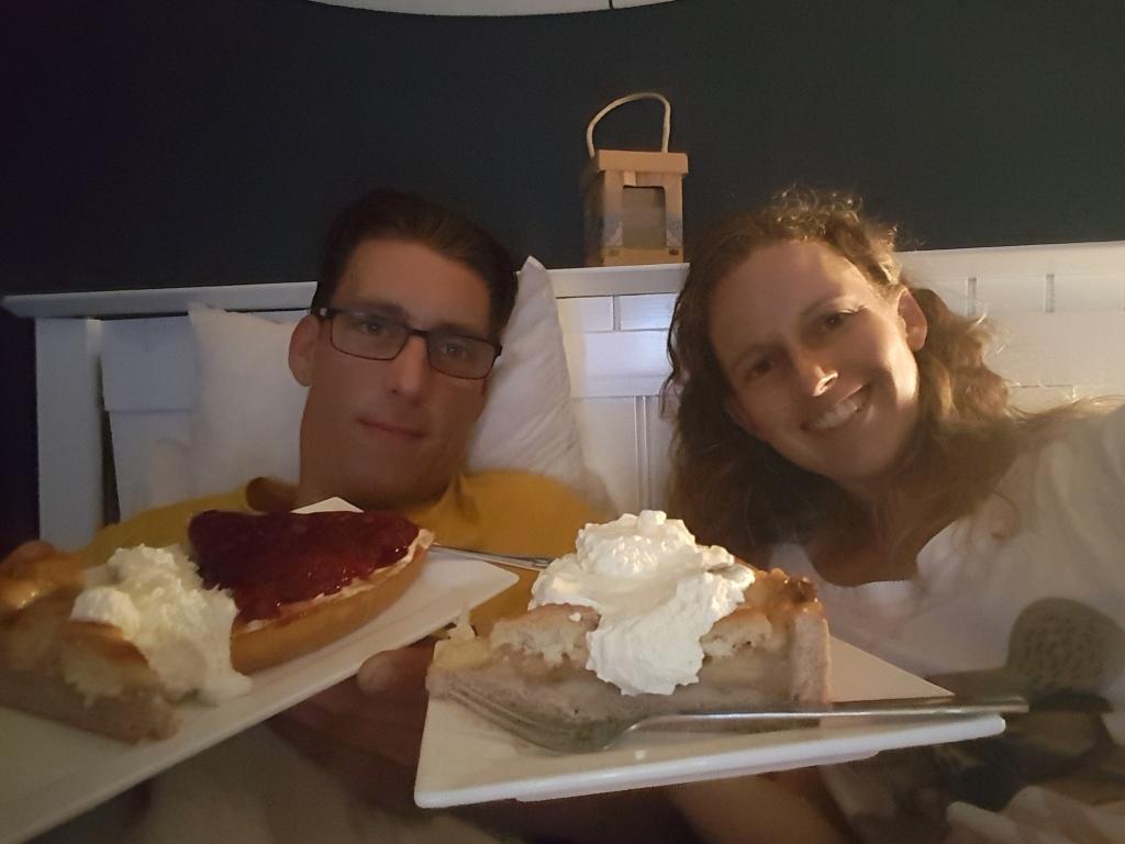 taart op bed