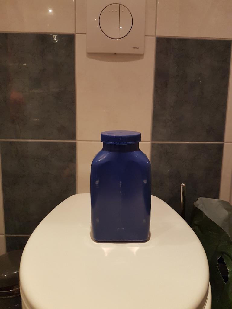 de blauwe fles