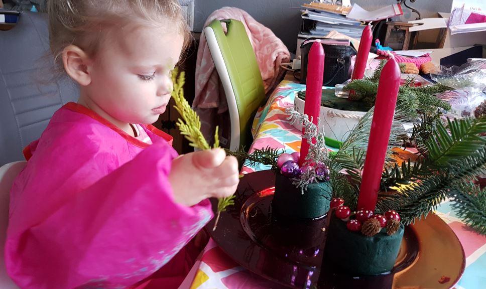 kerststukje frobelen