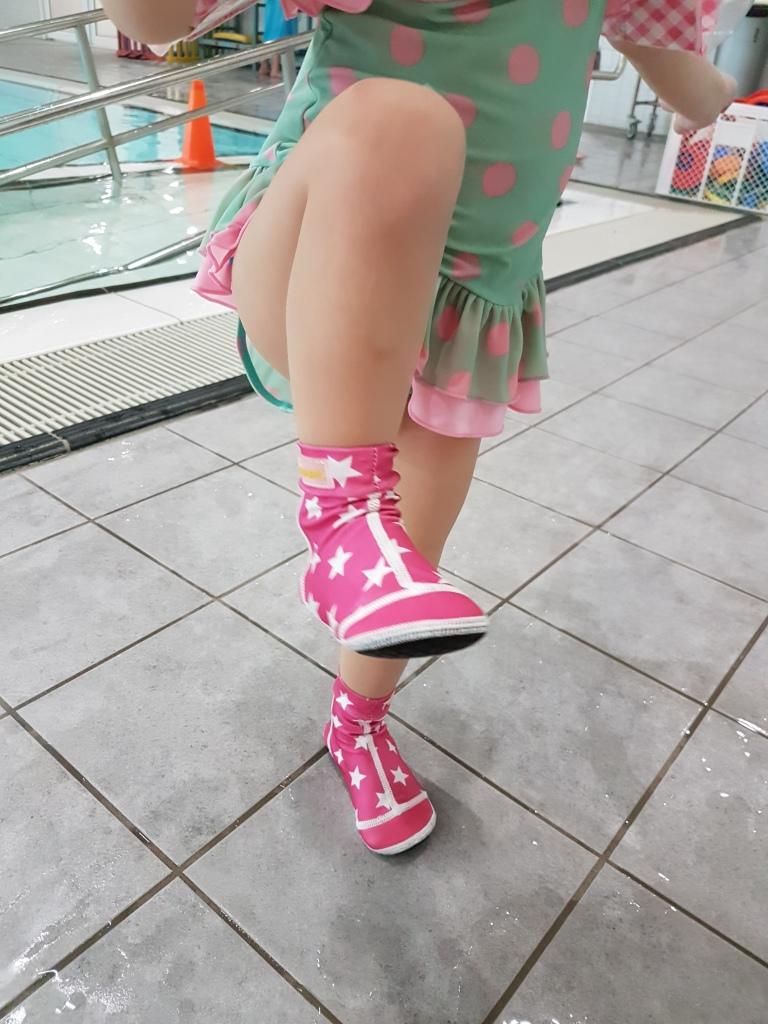 kijk nieuwe zwemschoentjes
