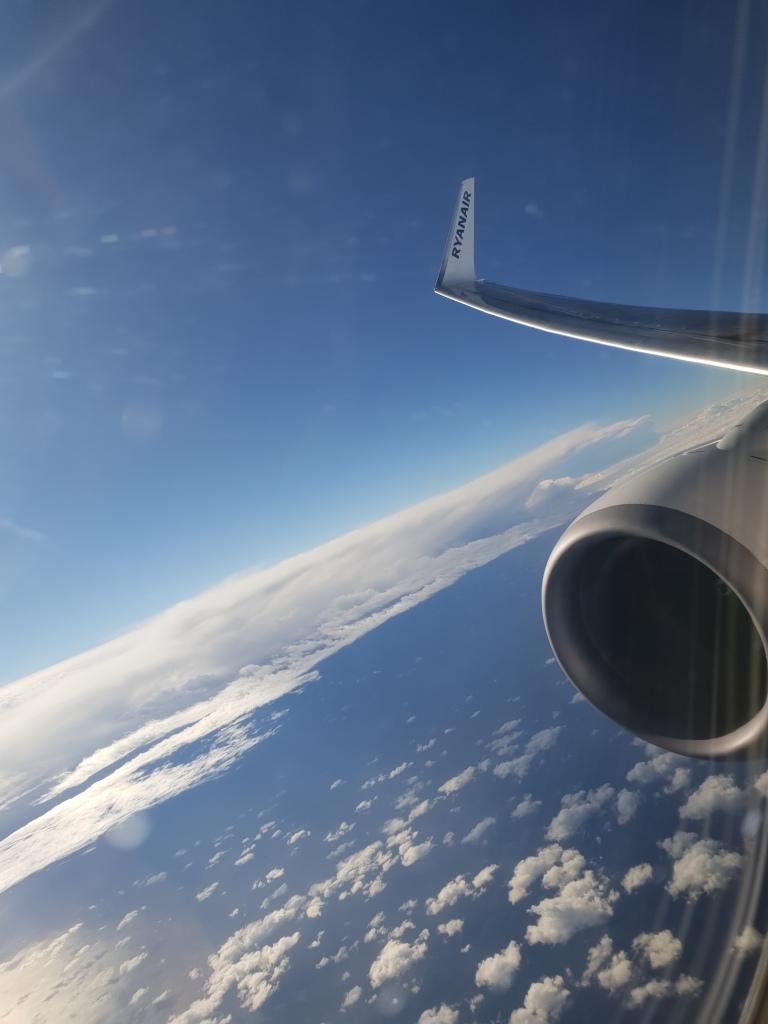 vanuit het vliegtuig